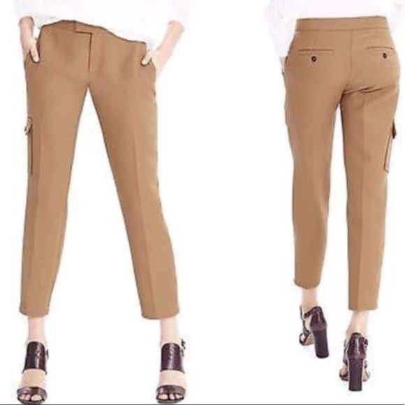 Heritage Cargo Crop Pants In Camel Color